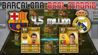 FIFA 13 - Ultimate Team - Barcelona/ Real madrid Hybrid Squad (ft. Messi, Ronaldo)