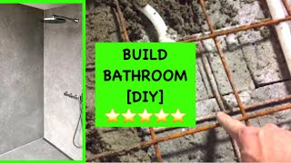 Shower / bathroom / new floor / concrete / drain / DIY