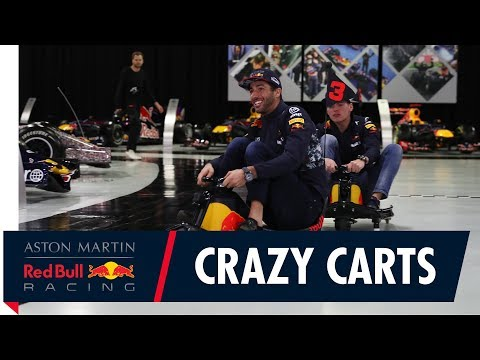 Max Verstappen and Daniel Ricciardo Crazy Cart The Factory
