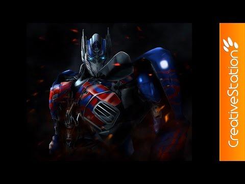 Optimus Prime - Speed Painting (#Photoshop) | CreativeStation