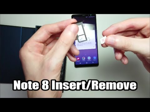 Samsung Galaxy Note 8 SIM Card & MicroSD Card How to Insert or Remove