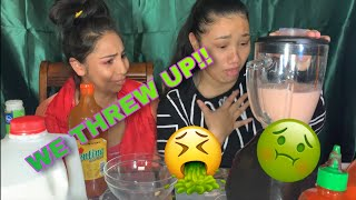 SMOOTHIE CHALLENGE W/ SISTER IN LAW ... WE THREW UP!