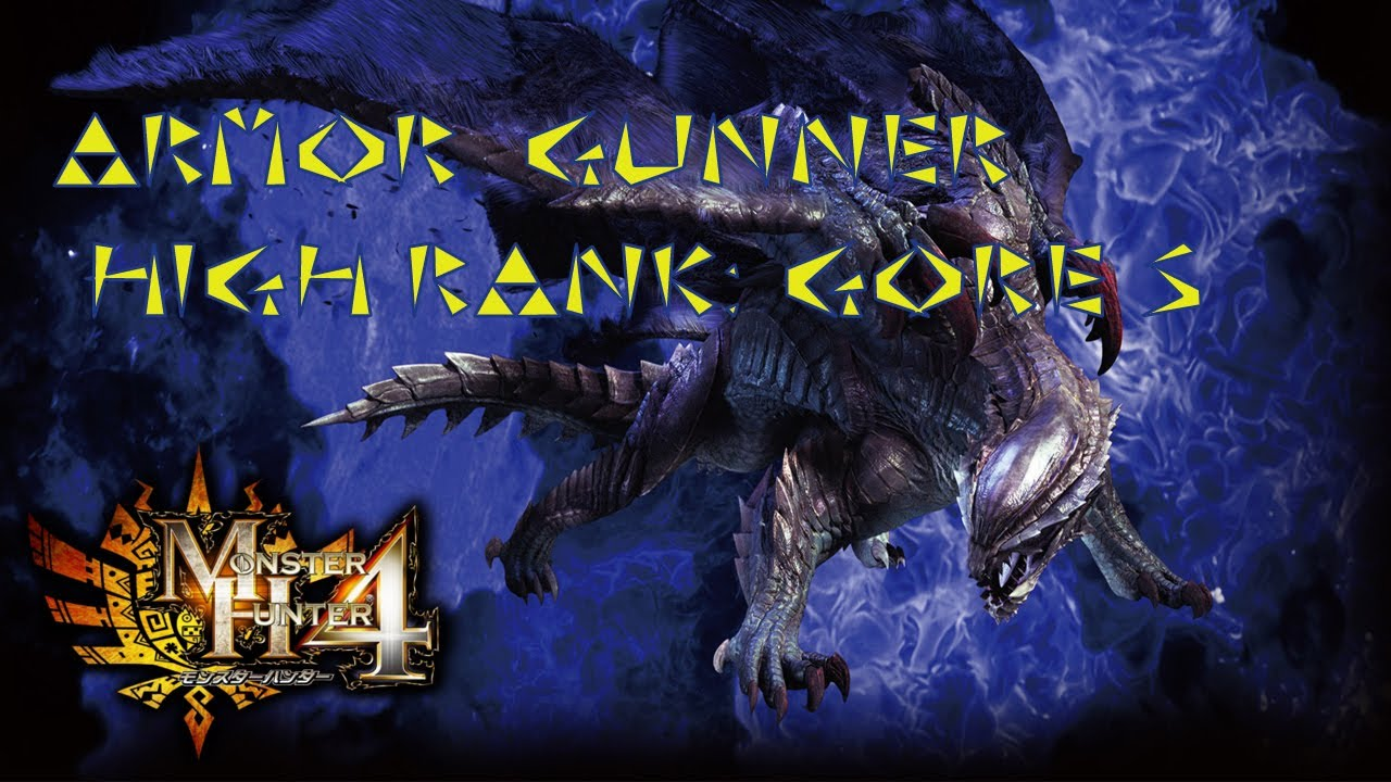 Gunner Rank Mh4 Armor Gunner High Rank