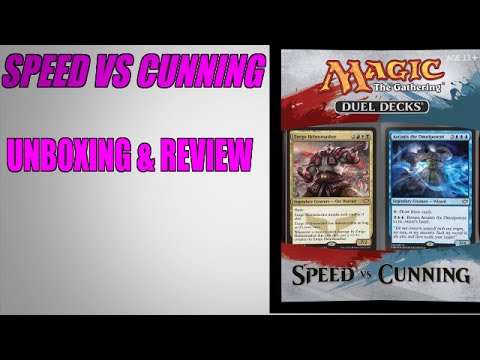 Speed Vs Cunning Duel Deck Opening & Review