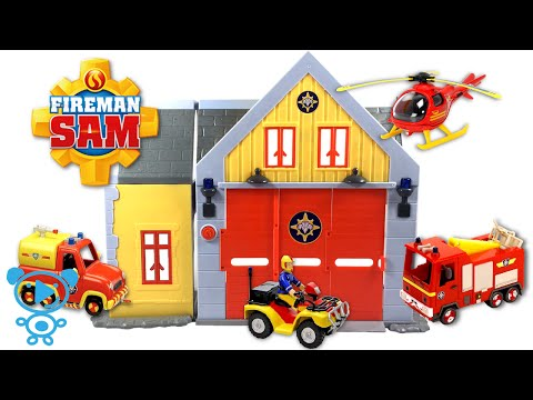 Fireman Sam Toys Fire Station and Fireman Sam's Vehicles Review & Unboxing Animation for Kids 4K