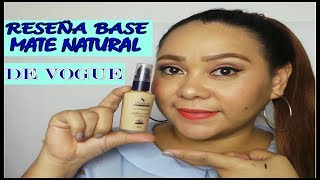 RESEÑA BASE MATE NATURAL DE VOGUE