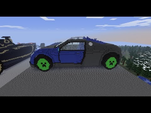 minecraft 3d art bugatti veyron 16 4 how to save money and do it yourself. Black Bedroom Furniture Sets. Home Design Ideas