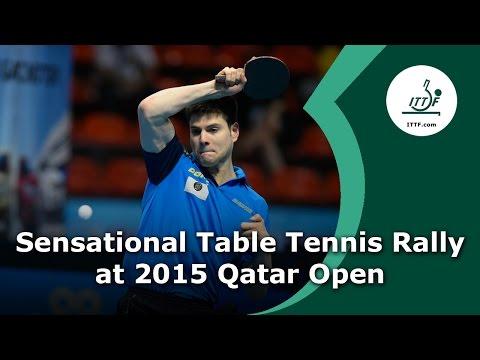 Sensational Table Tennis Rally at 2015 Qatar Open