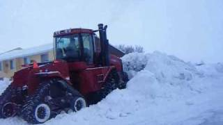 pushing snow case ih steiger stx535 quadtrac leon 4000 6 way blade