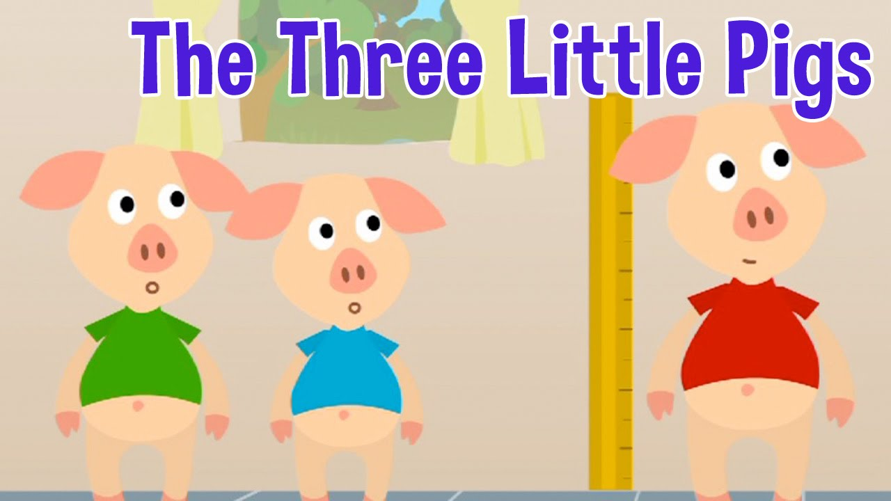The Three Little Pigs Story Song 3D Nursery Rhyme - YouTube