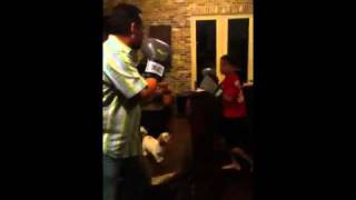 Father vs Son boxing part 1/2