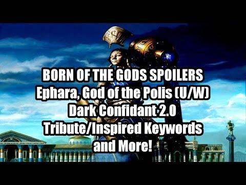 Born of the Gods Spoilers: Ephara. God of the Polis (U/W). Dark Confidant 1.7. and more!