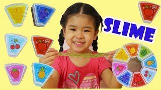 Bé Chơi Slime Thạch Hoa Quả Trái Cây- Chất Nhờn Ma Quái- Bé Học Màu Sắc- Titi Channel- Bé Ánh Mai