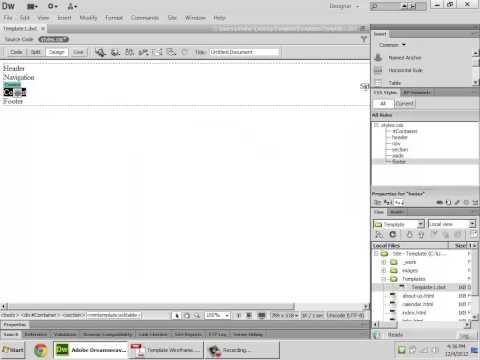 how to create a website using dreamweaver cs3