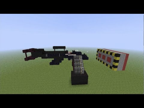 Minecraft Working Machine Gun