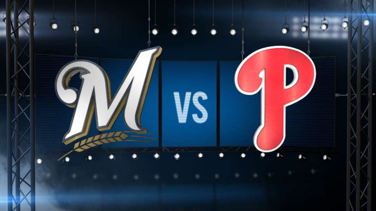 6/29/15: Brewers tally 16 hits in win over Phillies