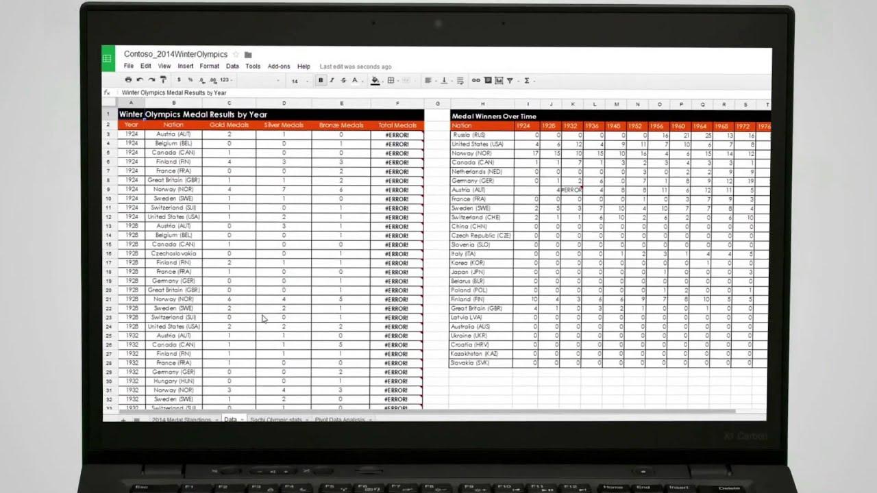 excel online vs  google sheets