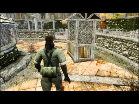 MGS Naked Snake Skyrim armor mod