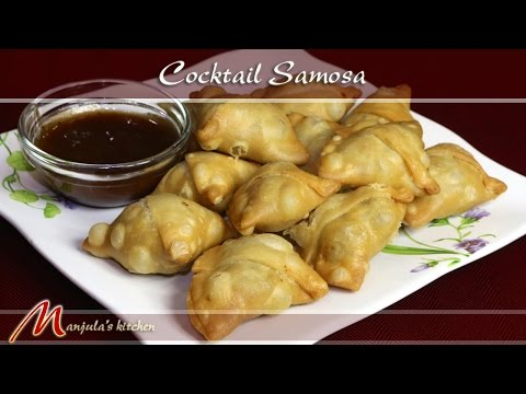 Cocktail Samosa (Green Peas) – Indian Appetizer Recipe by Manjula