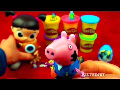 Boo Monsters Inc Play-Doh Giant Gumballs Minnie Mouse Peppa Pig Disney Frozen Toy Story FluffyJet