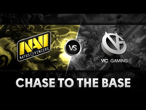 Chase to the base by Na`Vi vs VG @ The International 4