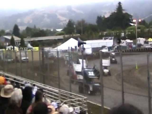 King of the West Sprint Car Crash @ Ocean Speedway 7/7/12