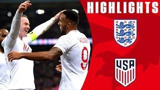 England 3-0 USA   Callum Wilson Bags International Debut Goal   Official Highlights