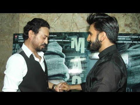 Ranveer Singh Praises About Irrfan Khan's Performance In 'Madaari'   Bollywood News