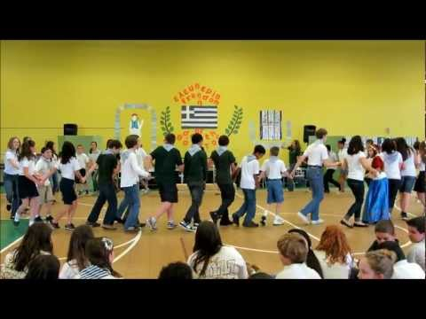 Socrates Academy's scholars singing and dancing during the Greek Independence Day Celebration 2012