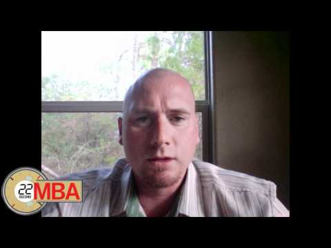 30 Second MBA -Toby Nunn, Sergeant First Class, Infantry Platoon Leader and author of Northern Discl