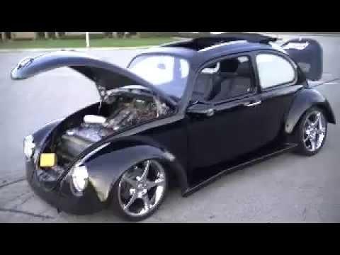 1974 Vw Beetle Ragtop Custom Chrome Rims Hp Turbo For