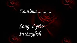 download lagu Zaalima Song  Meaning In English gratis
