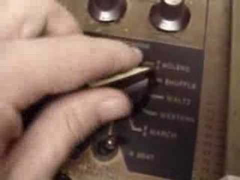 Wurlitzer SideMan - 1950s Tube Drum Machine