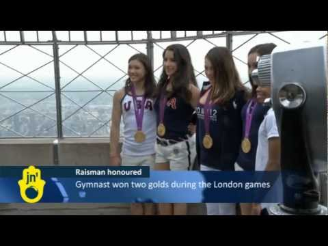 Jewish US Gold Medalist Aly Raisman Lights Up Empire State Building after Olympic Games Wins