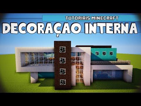 Tutoriais Minecraft: Decoração Interna da Casa Moderna 6 01