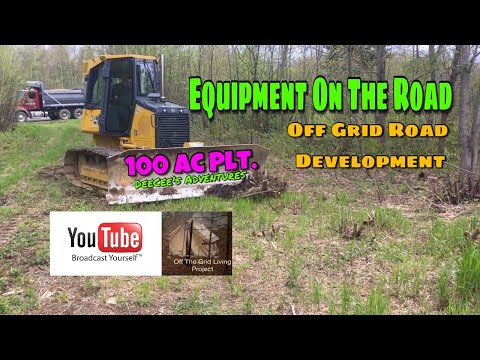100 ac Plt. Off Grid Living Project  S1E5 -  Equipment On The Road -