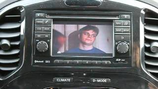 DTV on Nissan juke head unit with touchscreen control