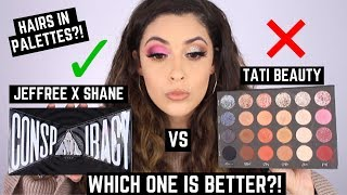 TATI BEAUTY VS SHANE X JEFFREE STAR CONSPIRACY PALETTE COMPARISON | REVIEW, SWATCHES,TUTORIAL