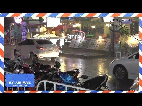 Chaweng Beach Monsoon Rain Koh Samui Thailand - Night on Chaweng Beach Road