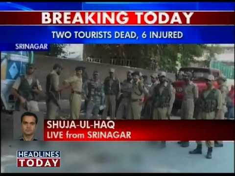 Tourists killed in Kashmir grenade attack