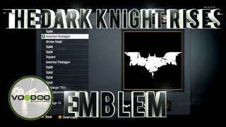 The Dark Knight Rises Emblem/Logo : Call of Duty Black Ops (Emblem Editor Series) Episode 77