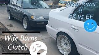 Wife Burns My Clutch On My Project Car!!