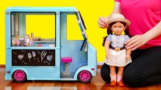 Ice Cream Truck and Baby Doll Playset for Kids