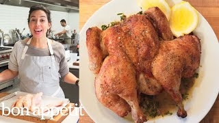 Carla Makes Brick Chicken in a Cast-Iron Skillet | Bon Appétit