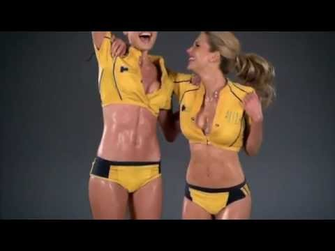 Sexy Rugby - The Game (slow motion bikini model version)