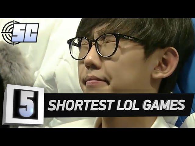 5 Shortest Games in LoL History | LoL eSports