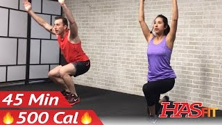 45 Min Cardio HIIT Workout for People Who Get Bored Easily - No Equipment HIIT Workout for Fat Loss