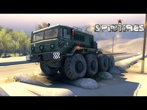 Spin Tires 2013 Tech Demo ( Jun 4 ) Update - Map Extended - MAZ 535 Truck on the Test Track