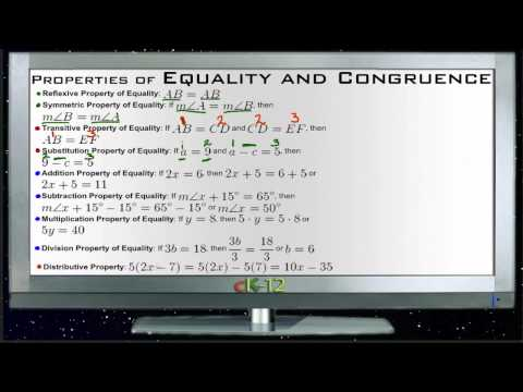 Properties of Equality and Congruence Principles - Basic