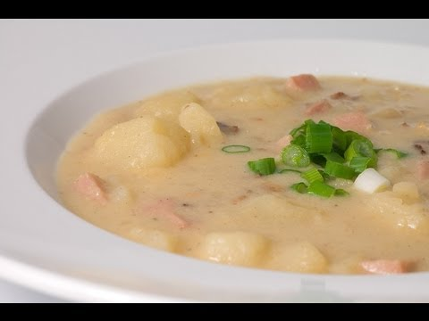 Creamed Potato Soup - HEALTHY FOOD - DIABETIC FOOD - How To QUICKRECIPES